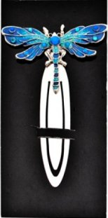 Blue Dragonfly Bookmark