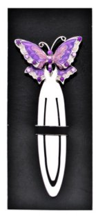 Pink and Purple Butterfly Bookmark