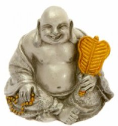 Small Gilded Pewter Buddha 1
