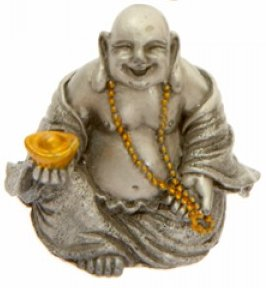 Small Gilded Pewter Buddha 3