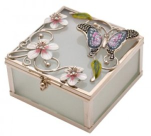 Butterfly and Flower Box