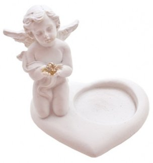 Cherub (L) Heart Tealight Holder