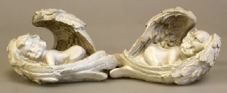 Set of 2 Cherubs SleepingL