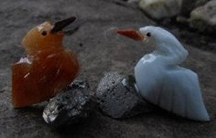 Crystal Love Bird Pair 33