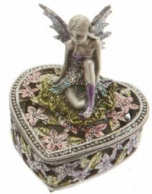 Pewter fairy heart boxA
