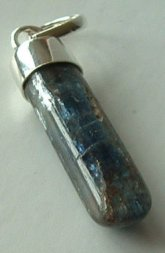 Blue Kyanite Bullet Pendant