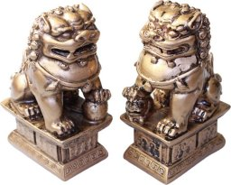A Pair of Lion/Fu Dogs