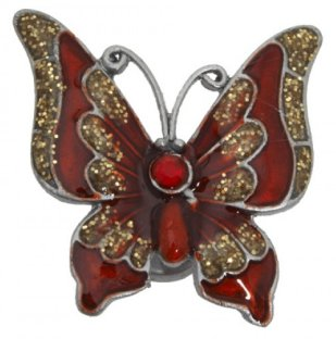Deep red Magnetic Butterfly