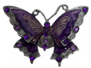 Purple Magnetic Butterfly