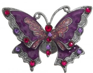 Purple and Red Magnetic Butterfly