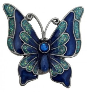 Turqouise Magnetic Butterfly