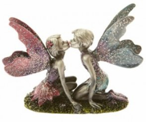 Pewter kissing Fairies2