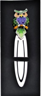 Green and purple Owl Bookmark