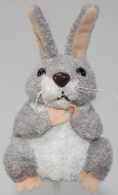 Woodland  Grey and White Rabbit Finger Puppet