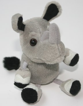 Zoo Rhino Finger Puppet
