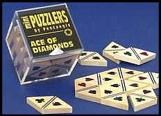 Mini Wooden Puzzler Ace-of-diamonds