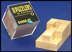 Mini Wooden Puzzler Cube-it