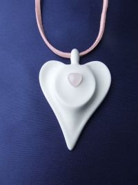 Rose Quartz Guardian Angel Pendant